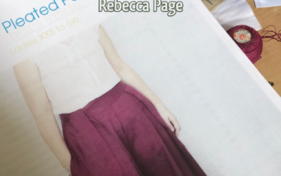Posy Pleated Pants by Rebecca Page