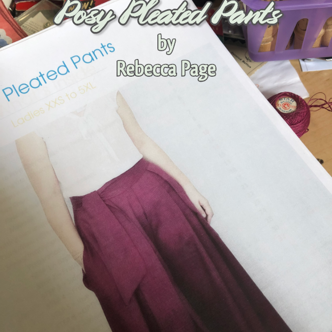 Cover of Rosy Pleated Pants pattern by Rebecca Page